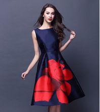 Vestidos мода 2015 лето элегантных женщин платье без рукавов bodycon миди платье офисное работа ну вечеринку платья Большой размер(China (Mainland))