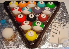 images of decorative cupcakes for men | PASTEL DE CUPCAKES PARA HOMBRE ¡¡¡