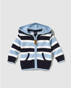 Best 12 Freestyle striped baby boy jacket with hood More – Canan Mete – – Freestyle striped baby – SkillOfKing. Crochet Toddler, Crochet For Boys, Knitting For Kids, Baby Sweater Patterns, Baby Knitting Patterns, Baby Boy Jackets, Creation Couture, Boys Sweaters, Baby Cardigan