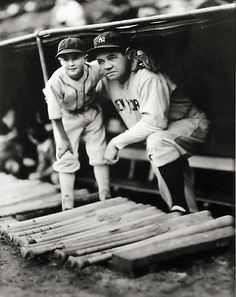 George Brace, Babe Ruth with White Sox Bat Boy, not dated, gelatin silver print