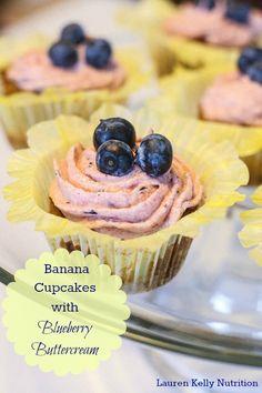 40 Delicious Vegan Cupcake Recipes - Banana Cupcakes from Lauren Kelly Nutrition