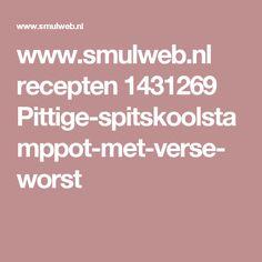 www.smulweb.nl recepten 1431269 Pittige-spitskoolstamppot-met-verse-worst