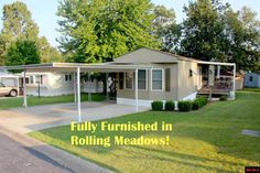 55 YEARS PLUS RETIREMENT PARK-located in Rolling Meadows, this fully furnished 2 bedroom 2 bath 952 sq ft home has newer tilt0in vinyl windows, tile flooring and is in move-in condition. Covered decks on both sides, carport and 2 storage buildings. Only $37,900 in Mountain Home AR