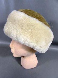 9bbcc5ee776 Genuine Sheepskin Bighorn Russian Shearling HatM Description  New Genuine  Sheepskin Bighorn Russian Shearling Hat Size M. Shearling collar can be  turned ...