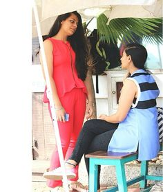 """Real girl #4 Aaliya Sidhu, student -""""I am just 15!"""" In Brime's red peplum and pants! #theRealGirlProject #inspired #women #fashionable #stylish #shoot"""