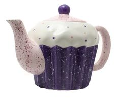 Cupcake Teapot Purple Small Rosebud Ceramics