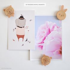 DIY Wooden Animal Magnets — Petit Pippin