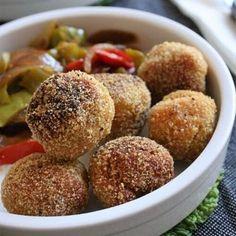 Boulettes de lentilles corail et quinoa bio Bio, Cake Recipes, Almond, Muffin, Easy Meals, Cooking, Breakfast, Healthy, Polenta