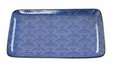 Assiette Nippon Blue Rectangulaire Bleu Onde 21x13.5 / The Oriental Shop