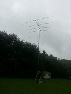 40m & 6m Field Day, Ham Radio, Rain, Rain Fall, Waterfall