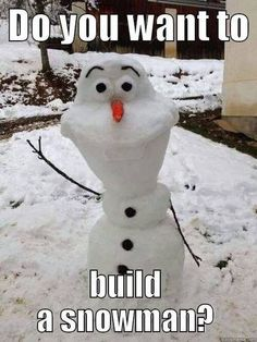 Do You Want to Build a Snowman plus 4 other great #Frozen memes!  #Disney