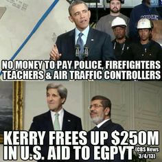 wow seriously we can't pay for our own protection but we can pay to protect egypt wtf