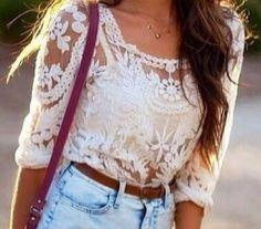 Sheer Lace Shirt