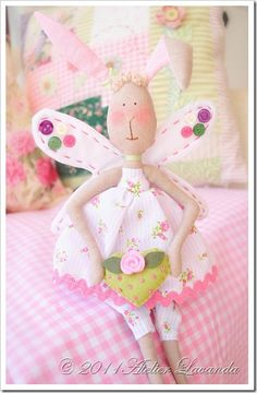 coniglietta dolcissima - an angel-perfect for a lil girl...i can just see the blonde ringlets with this dragging behind her in one hand...