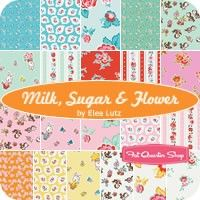 "5"" stacker Milk, Sugar & Flower Elea Lutz for Penny Rose Fabrics Due Jan 2015 21 5 inch squares, very cute and vintage"