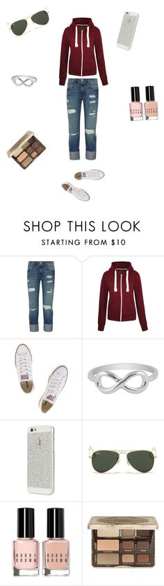 """""""casual"""" by rachelmwebb-1 ❤ liked on Polyvore featuring Frame Denim, Converse, Jewel Exclusive, CO, Ray-Ban, Bobbi Brown Cosmetics and Too Faced Cosmetics"""