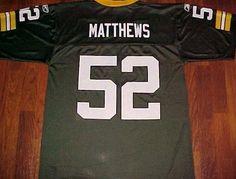 Reebok Team NFL NFC Green Bay Packers Clay Matthews III 52 Football Jersey M #Reebok #GreenBayPackers