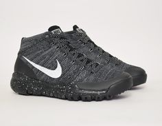 #Nike Flyknit Trainer Chukka FSB Black #sneakers