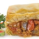 Organic Fire-Roasted Eggplant & Red Pepper Fillo Pie - #Tuscan flavors of Fire Roasted #Eggplant and Red #Peppers combined with vine ripened tomatoes, caramelized onions, garlic and sweet basil create this mouth watering entrée pie wrapped with layers of flaky #Fillo. #Healthy: USDA #Organic, #Vegan, #Kosher OU-Parve, Yeast Free, No Trans-Fat, No Cholesterol. See nutrition or shop online at http://www.fillofactory.com/fillo-entree-pies.html.