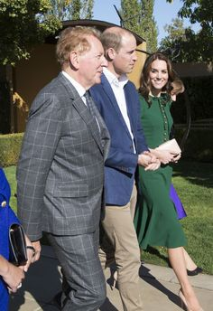 Prince William, Duke of Cambridge and Catherine, Duchess of Cambridge join Mission Hill Family Estate proprietor Anthony von Mandl in the Okanagan Valley, British Columbia, Canada on Sept 27, 2016.