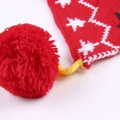 Chic Woolen Yarn Balls Pendant Christmas Tree Pattern Warmth Scarf For Kids #shoes, #jewelry, #women, #men, #hats