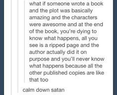 Calm down satan.
