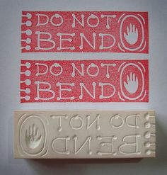 rubber stamp. do not bend.