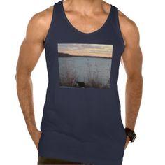 Lake Shore Sunset Mens Tank Top