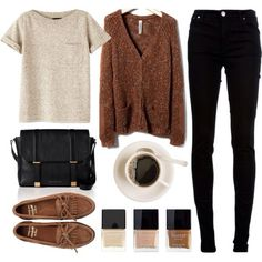 Just the sweater shirt and pants... coffee too