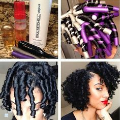 HAIRSPIRATION| Love this curl #transformation @rerefined did on her #naturalhair…