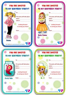 Got a birthday coming up for your little one? We know you want it to be as special as it can be, and hopefully easy to prepare. Well this is where we come in. Introducing our brand new giveaway - TabTale birthday invitations! It is completely free, you can simply print out, whatever you like, as many times as you need and have fun cutting it out together and start using it however you want :)