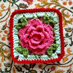 Irish crochet rose 3