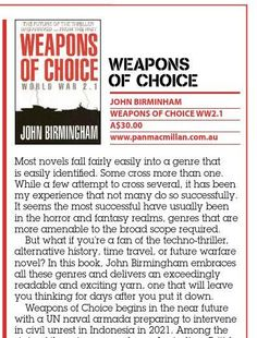 Book Review - Weapons of Choice Published in issue #3, September 2004