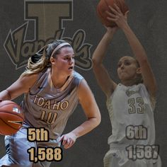 Barr's (@sbarr10) 7 points pushes her past former Vandal @Alyssacharlston for 5th on the all-time scoring list