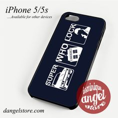 SuperWhoLock (4) Phone case for iPhone 4/4s/5/5c/5s/6/6 plus