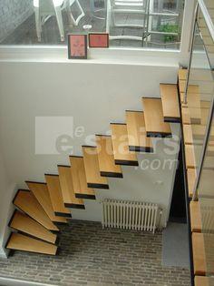 Corner Stairs Wood by eestairs
