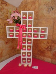 This is a unique cupcake stand, made into a cross. How cool is that!