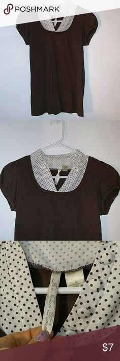 Cute Top with faux blouse underneath Just a cute little shirt It's Our Time Tops
