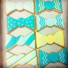 Bow tie cookies, cut out cookies, iced cookies, cute cookies, cupcake c Bow Tie Cookies, Iced Cookies, Cut Out Cookies, Cute Cookies, Cupcake Cookies, Sugar Cookies, Cupcakes, Doctor Who Baby Shower, Baby Shower Themes