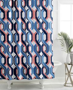 Trina Turk Coastline Ikat Shower Curtain - Shower Curtains & Accessories - Bed & Bath - Macy's