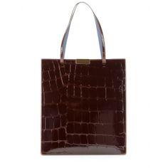 mytheresa.com - Croc-effect faux patent-leather tote - totes - bags - Luxury Fashion for Women / Designer clothing, shoes, bags