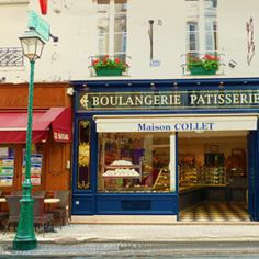 Let's take a trip to Paris. Boulangerie means Bakery in French