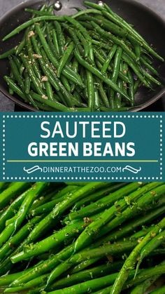 Side Dish Recipes, Vegetable Recipes, Vegetarian Recipes, Cooking Recipes, Healthy Recipes, Cooking Tips, Dinner Recipes, Sauteed Green Beans, Sauteed Greens