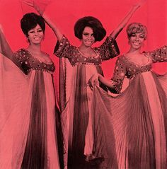 The Supremes:  Cindy Birdsong, Diana Ross and Mary Wilson