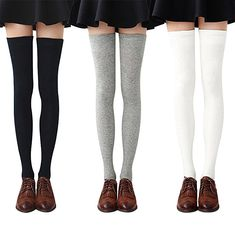 99ac8399f GIRLS LADIES 3 STRIPES REFEREE SOCKS STRIPED OVER THE KNEE THIGH HIGH LONG  SOCKS  Unbranded  KneeHigh