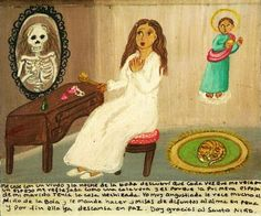 Retablos — I married a widow and on our wedding night I found...