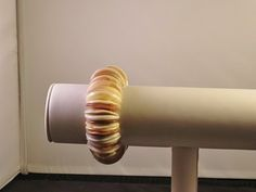 Creme Colored/Beige/Tan Stretch Shell Bracelet