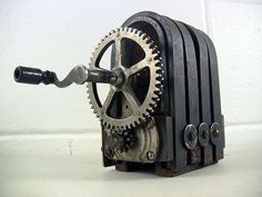 Antique 4-Bar Magneto Crank-Type Magnetic Electric Generator Unmarked Untested by EclectiquesBoutique on Etsy https://www.etsy.com/listing/215520893/antique-4-bar-magneto-crank-type