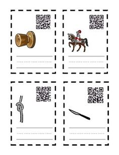 FREEBIE Kn Wr Spelling QR task cards