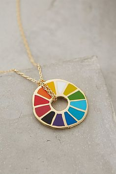 Colorwheel Pendant Necklace #anthropologie